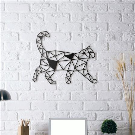 cat metal wall sculpture