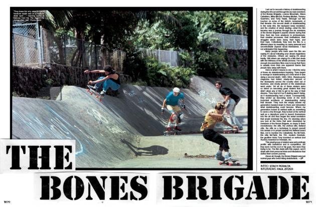 The Bones Brigade article the skateboard mag #98
