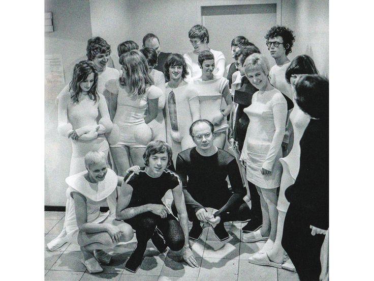 Friends and professional associates of Gijs Bakker and Emmy van Leersum wearing some Clothing Suggestion, 1970, photo: Sjaak Ramakers
