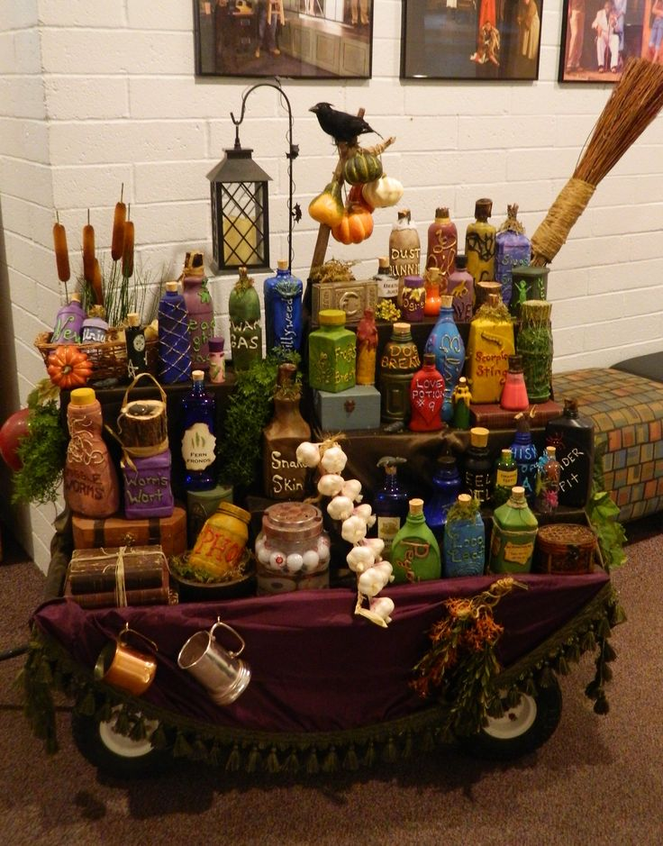 Grandma's Potion Cart for CYT Tucson's production of The Addams Family. Made by Julie M.
