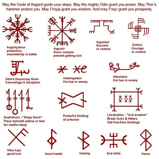 Galdrastafir. These are very ancient pagan symbols used by the vikings, mostly in battle on on their ships. In ancient times they would be drawn using blood. The vikings were fearless warriors. To help you in your magical workings and spell casting, carve the symbol you need into a candle, draw it on paper, paint it on your walls but do keep them in a place were you will see the symbol often in order for it to be most effective, they also make very popular tattoos.