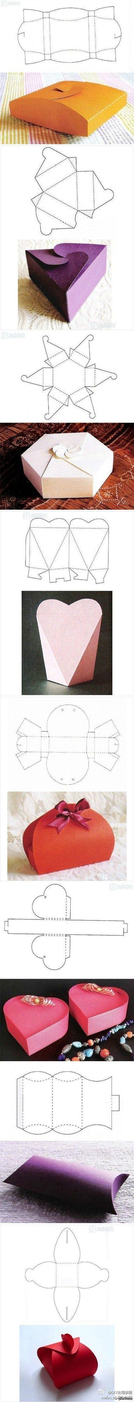 Необычные коробочки своими руками   коробка, сделай сам, Упаковка, подарок, выкройка, длиннопост