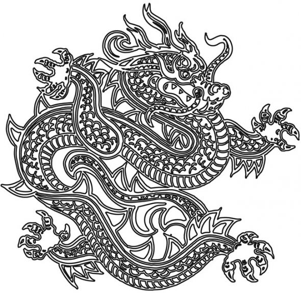 Japanese Dragon Coloring Pages
