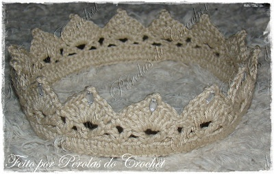 * Pérolas do Crochet: Coroinha em crochet - Crochet Crown