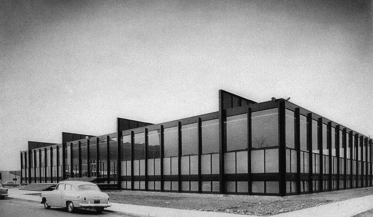 Ludwig Mies van der Rohe's Crown Hall in 1955, Chicago