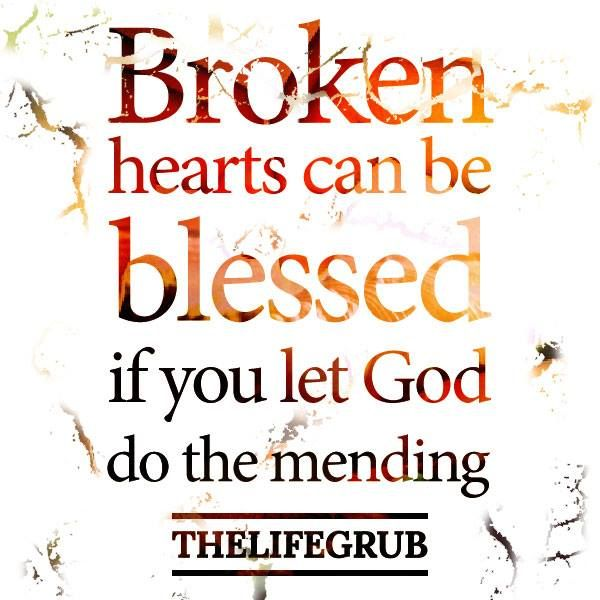 God heals the brokenhearted and binds up their wounds. Psalm 147:3