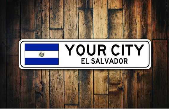 El Salvador Flag Sign, El Salvador Souvenir, El Salvador Gift, Country Souvenir, Metal City Sign, City Souvenir - Custom Aluminum Sign  Personalize this durable aluminum sign with your favorite destination or customize this quality sign for a friend and gift it! Available in three sizes and ready to mount! This sign is a perfect finishing touch to your home decor - so unique!  ✔ HOW TO ORDER 1. Select any options available from the drop down menus (Size, Color, etc). 2. Click the Add to Cart…