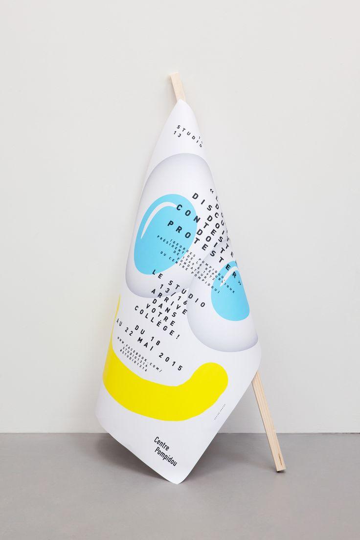 Identité visuelle du Studio 13/16 Espace du Centre Pompidou dédié aux 13 - 16 ans pour la saison 2014-2015 Mai 2015