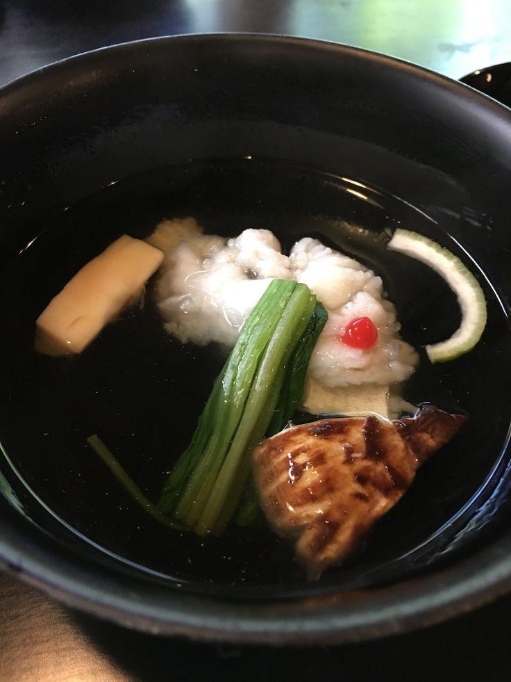 瓢亭 鱧と松茸の煮物椀