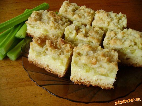 Vynikajúci REBARBOROVO-tvarohový koláč