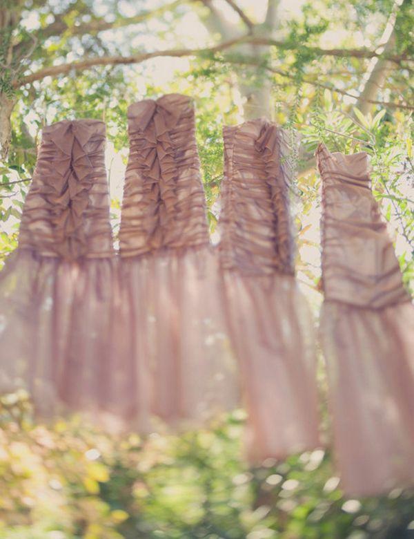 gorgeous blush bridesmaid dresses!   Love Wed Bliss #bridesmaids #dresses #blush #pink