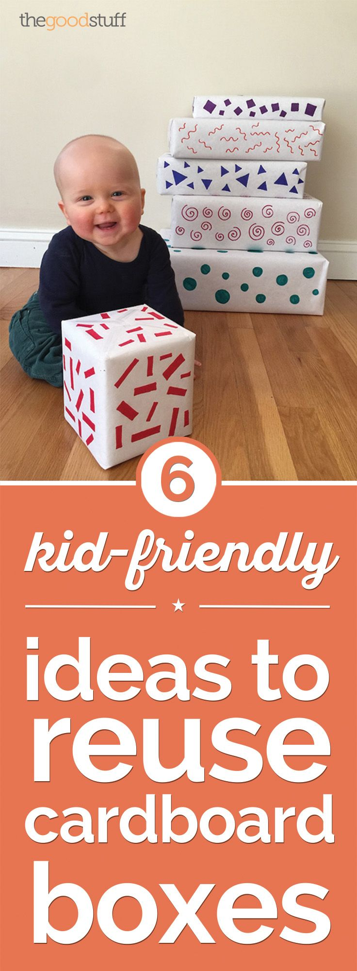 Repurpose cardboard boxes to make fun and unique toys for the little ones!