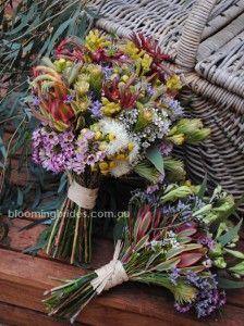 wattle, geraldton wax, kangaroo paw - Australian Native Bouquets
