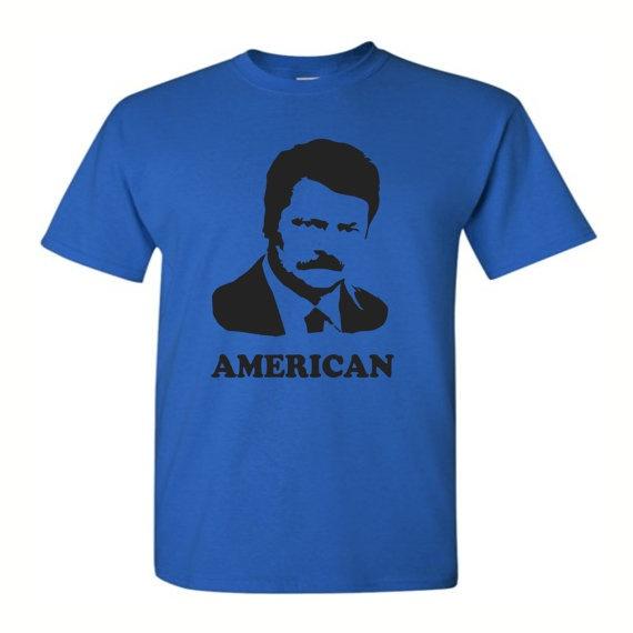 Ron Swanson Shirt  Men's Graphic Tee  S M L by bravocustomprinting, $18.00