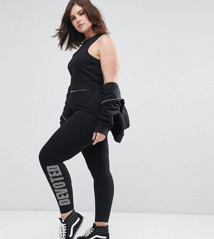 Get this Asos Curve's basic leggings now! Click for more details. Worldwide shipping. ASOS CURVE Leggings with Skate Print - Black: Plus-size leggings by ASOS CURVE, Smooth stretch fabric, High-rise waist, Elasticated waistband, 'Devoted' slogan print, Close-cut bodycon fit, Machine wash, 95% Cotton, 5% Elastane, Our model wears a UK 18/EU 46/US 14 and is 176cm/5'9.5 tall. Say goodbye to awkward-fitting plus-size fashion with our ASOS CURVE collection. Giving shout-outs to denim…