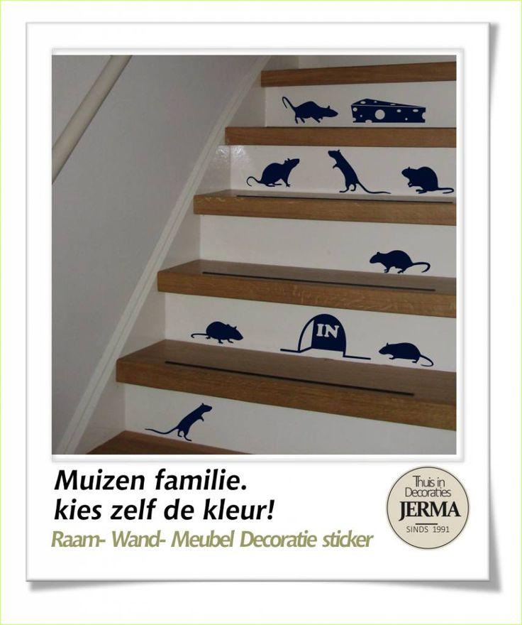 JERMA - Decoratie Muizen familie decoratie stickers muis stickers ...