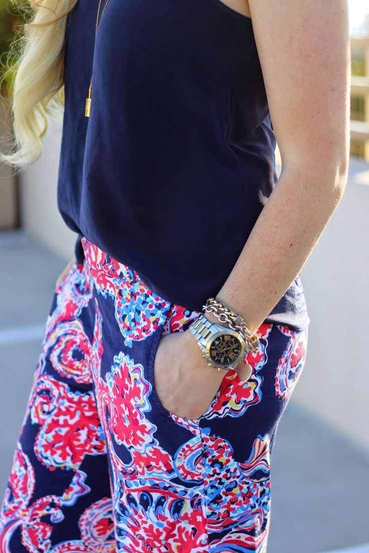 Lilly Pulitzer pants...LP is always too preppy for my taste, but these are adorable and on trend.