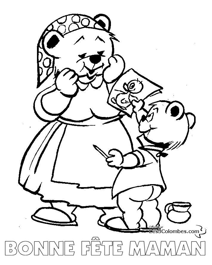 Les 16 meilleures images du tableau coloriage maman papa - Dessin pour maman et papa ...