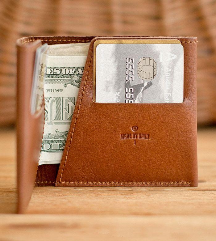 Бумажник Hoop из натуральной кожи ручной работы от Handwers.