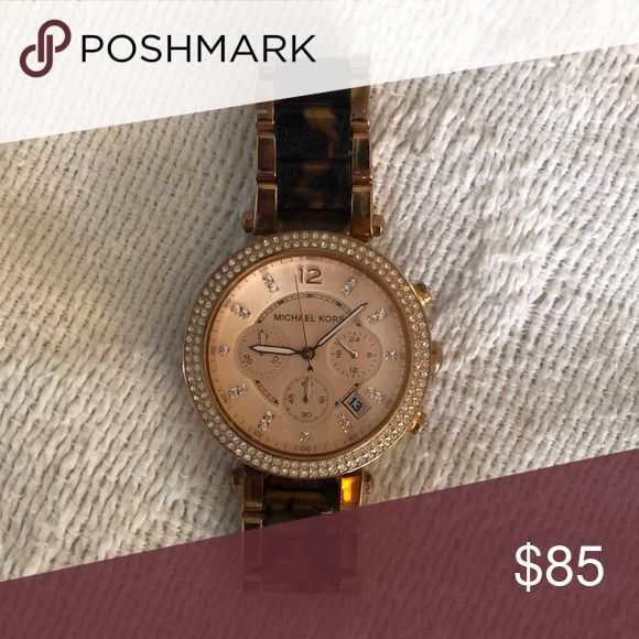 Michael kors tortoise shell watch Gently worn, great condition Michael Kors Accessories Watches