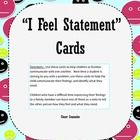 """Free printable """"I feel statement"""" cards.  Use them to encourage families to leave each other notes, as a check in for a group, or to help problem solve conflicts in a classroom.  These cards help prompt kids on using """"I feel"""" statements and reduce blaming."""