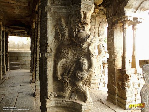 100 pillared Ranga Mandapa or Dance Hall, with Intricately sculpted pillars inside the Veerabhadra Swamy Temple at #Lepakshi, in #Anantapur district , Andhra Pradesh, #India  #AndhraPradesh #AP #Architecture #incredibleindia #Travels #Temples #templesofindia #Trayaan #Historical #Monuments #MonumentsOfIndia #VijayanagarTemples #VijayanagarMonuments