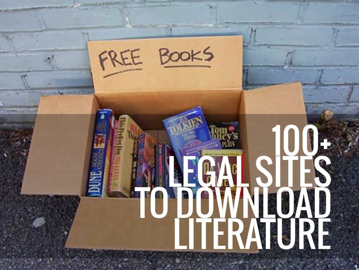 100+ Legal Sites To Download Literature