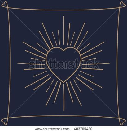 Heart in rays. Vector illustration and raster copy.