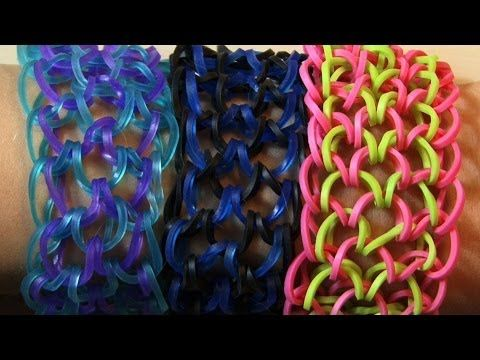 how to make dragon scale loom band with fork