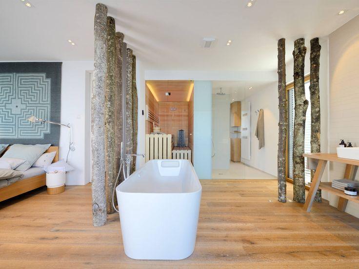 Badezimmer Im Haus Am See Von Baufritz U2022 Mit Musterhaus.net Traumhaus  Finden Und Badezimmer