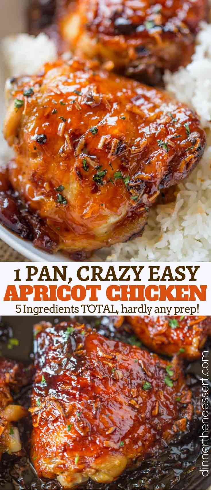 One Pan Apricot Chicken Like Your Mom Used To Make, With Just Five Ingredient And One Pan, This Dish Is All About Flavor With Almost No Effort! Includes Recipes For Homemade Onion Soup Mix And French Dressing!