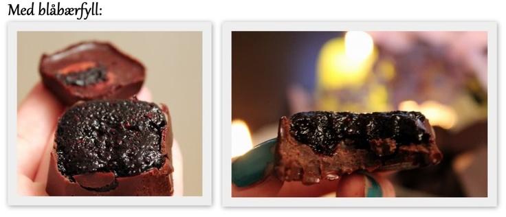 Raw sjokolade med blåbærfyll! (En helseblogg om jakten etter en friskere...)