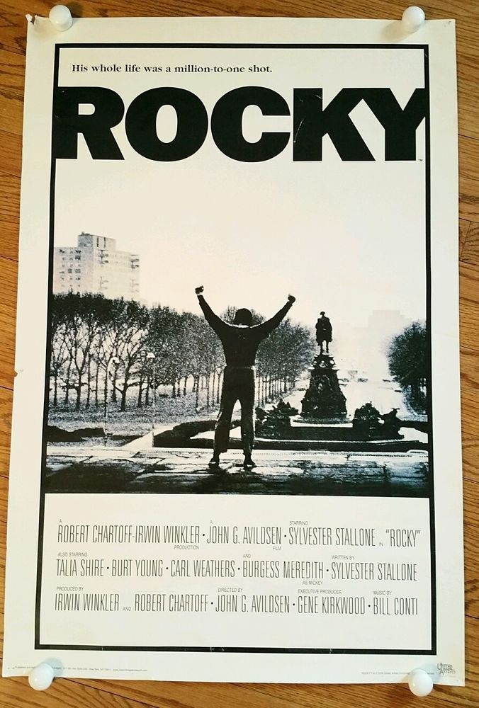 Rocky I Movie Poster 24x36 Sly Sylvester Stallone Bill Conti/boxing/Philadelphia