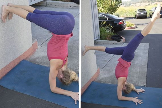 Hannah Franco Forearm Stand Facing Wall Variations. Easing into forearm stands