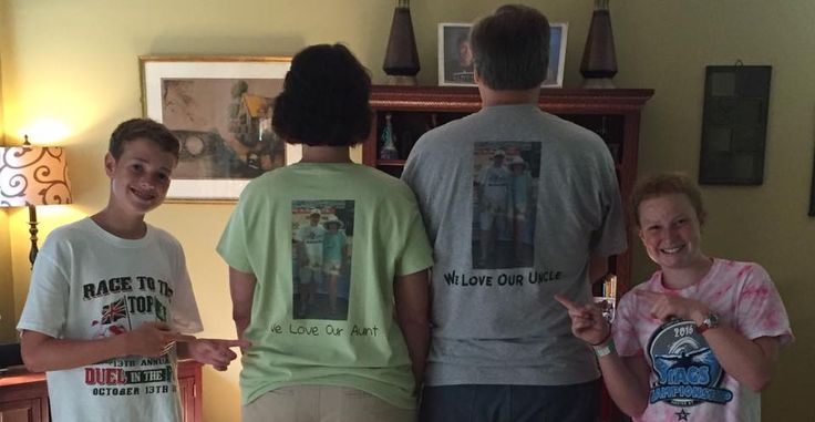 Our owners had a great surprise on National #Aunt and #Uncle day when their niece and nephew made them their own shirts! #surprise #nationalauntanduncleday #tshirts #custom #customtshirts #screenprinting #embroidery #heatpress #ashevilletshirts #HVL #AVL #screenprinting #embroidery #heatpress #ashevilletshirts #HVL #AVL #dtg #directtogarment #bigfrog