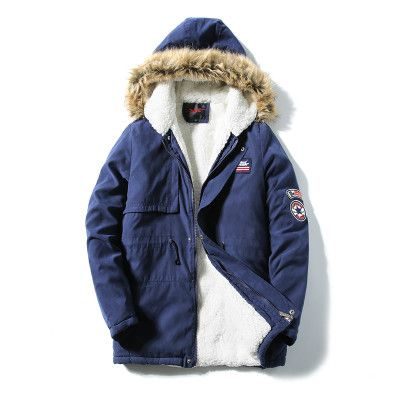 Winter Jacket Men Fashion Design Brand Parka Men Clothing Zipper Coat Male Thick Warm Fur Collar Hooded Parka