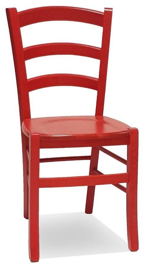 Sedie in legno per ristorante pub pizzeria con seduta legno color ...