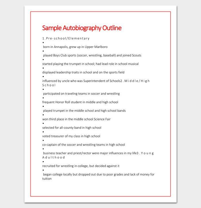 Autobiography essay for cda