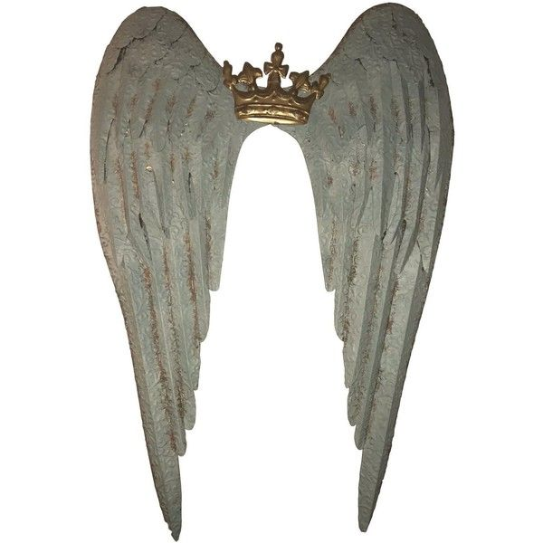 Large Metal Crown & Angel Wings Wall Decor (£89) ❤ liked on Polyvore featuring home, home decor, bookends, parisian home decor, metal home decor, paris france home decor, paris home decor and crown home decor