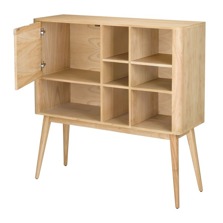 Sterling Retro Book Rack. This Retro Book Rack Is Made From Solid Mindi Wood With Veneer And Other Plantation Grown Hardwoods. Finished In A Light Natural Wood Tone Finish Item Number: 150-003 Item Cl