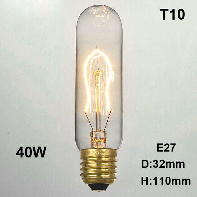 Retro Vintage 40W Edison light bulb chandelier E27 220V lamp industrial Incandescent Bulbs Filament Edison light bulb lamp