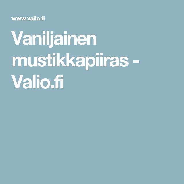 Vaniljainen mustikkapiiras - Valio.fi