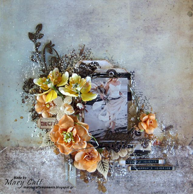 Mary's Crafty Moments: 'Happy'' - A DT Layout for 2Crafty Chipboard with ...