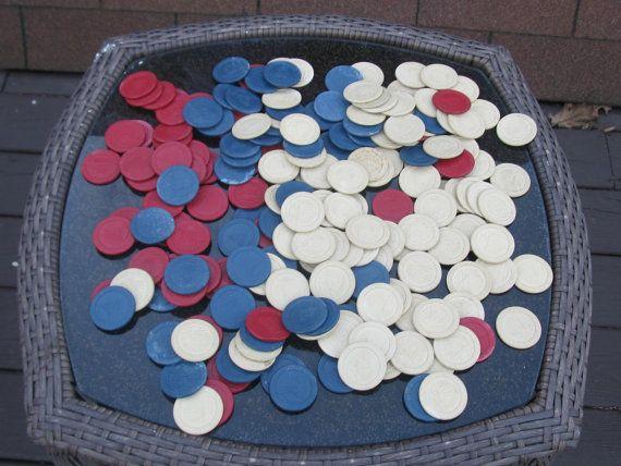 Vintage Sailing Ship Clay Poker Chips x 192 3 by SuziLovedtoSave