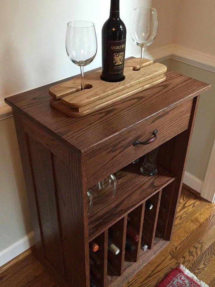 Arts Crafts Mission Bouteille De Vin Et Rangement En Verre