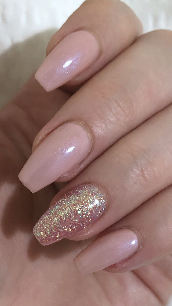 Effervescent Pink Nails Done In Ireland In 2020 Pink Nails Blue Glitter Nails Baby Pink Nails