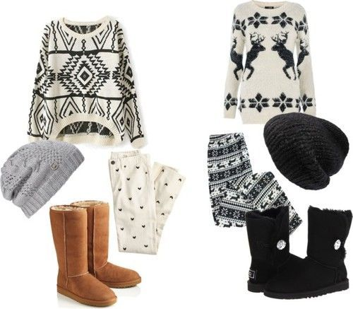 Outfit with UGG boots