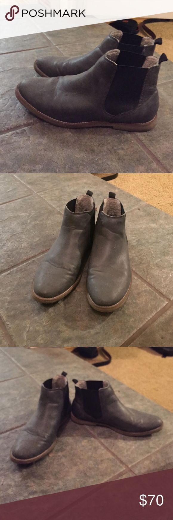 Topman Chelsea Boots Grey Topman Chelsea Boots, lightly worn. Topman Shoes Boots