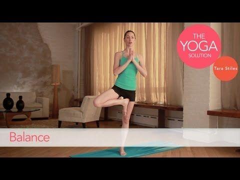 Balance | The Yoga Solution With Tara Stiles #yoga #video    http://www.livestrong.com/original-videos/xLGAHRF0hqg-yoga-solution-tara-stiles-balance/