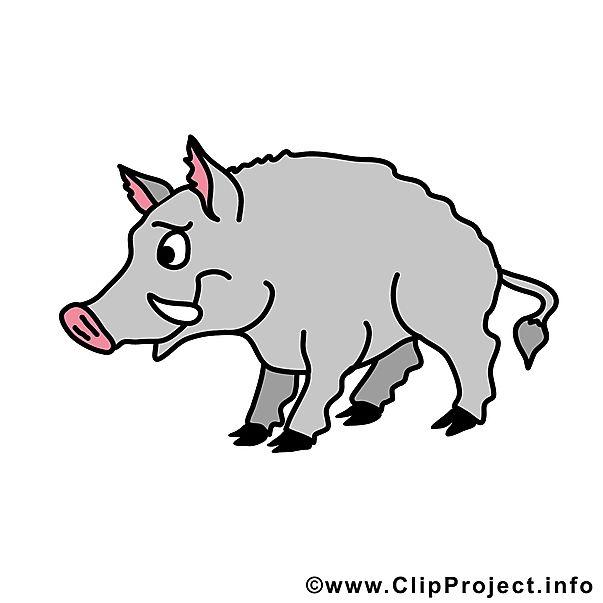 Wildschwein Clipart kostenlos